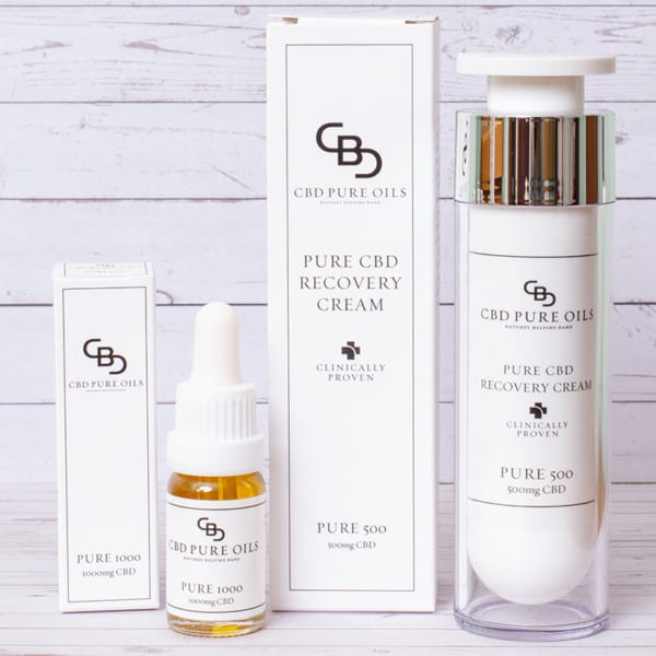 High Strength CBD Pure Oil and Topical Cream Bundle