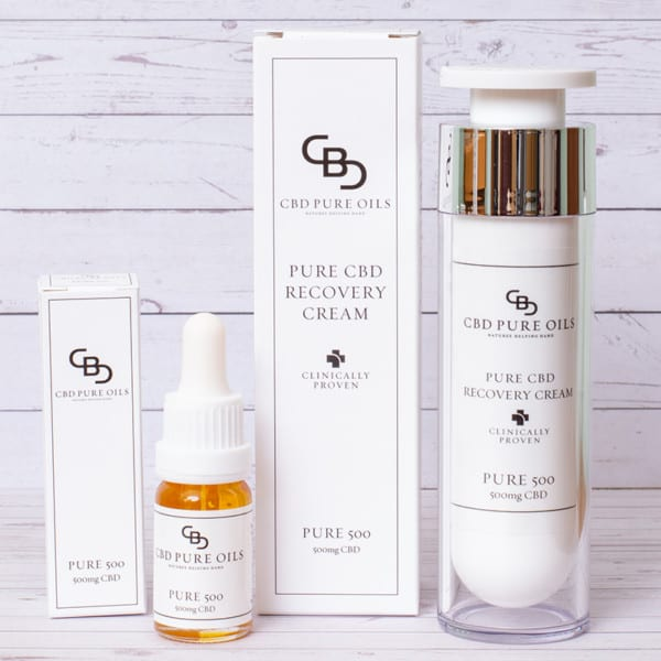 Mid Strength CBD Pure Oil and Topical Cream Bundle