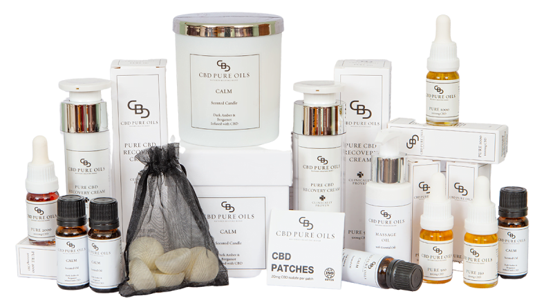 CBD Pure Oils Products CBD Oil, Topical Cream, Patches, Candles and Wax Melts